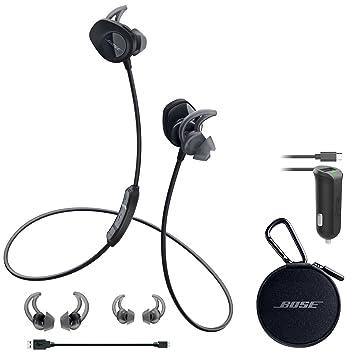 bose earphones wireless. bose soundsport wireless headphones - black \u0026 car charger bundle earphones i