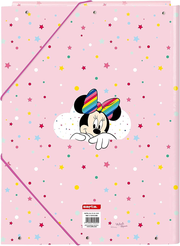 260 x 365 mm Cartella Folio con 3 alette di Minnie Mouse Rainbow