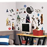 "RoomMates RMK1586SCS Star Wars Classic Peel and Stick Wall Decals ,1.5 "" x 1.25 "" to 9 "" x 9 """