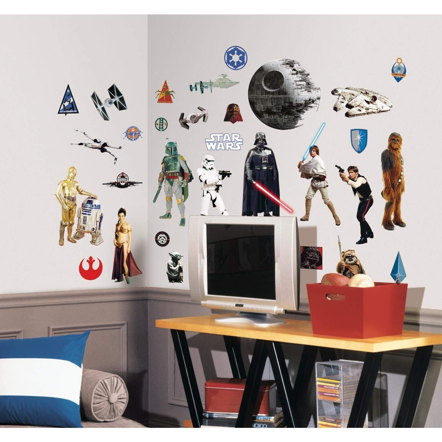 Roommates star wars classic peel and stick wall decals wall decor stickers amazon com