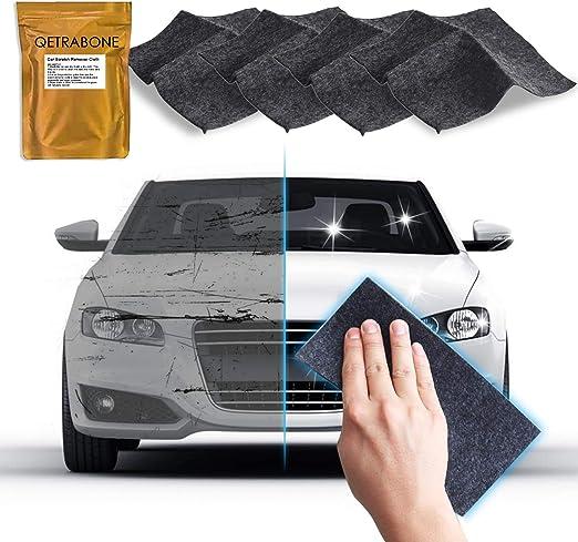 4 Pack - Upgraded Nano Magic Car Scratch Remover Cloth, Multipurpose Scratch Repair Cloth, Nanomagic Cloth for Car Paint Scratch Repair, Easy to Repair Slight Scratches on the Surface