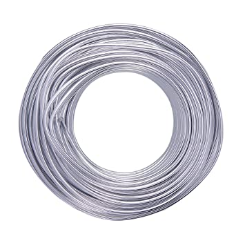 L/änge von 3 m Schmuckdraht versilbert Durchmesser von 1,15/mm Leitungsdraht