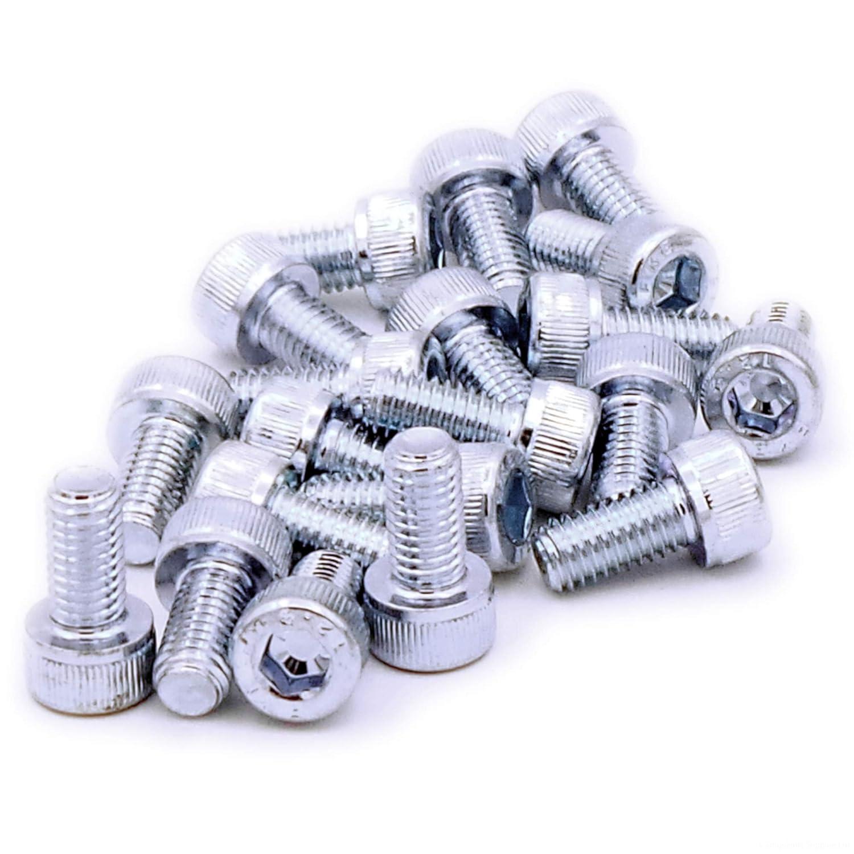 lot de 20 5/mm X 16/mm Hex Socket Head Cap Vis Boulons en acier M5/x