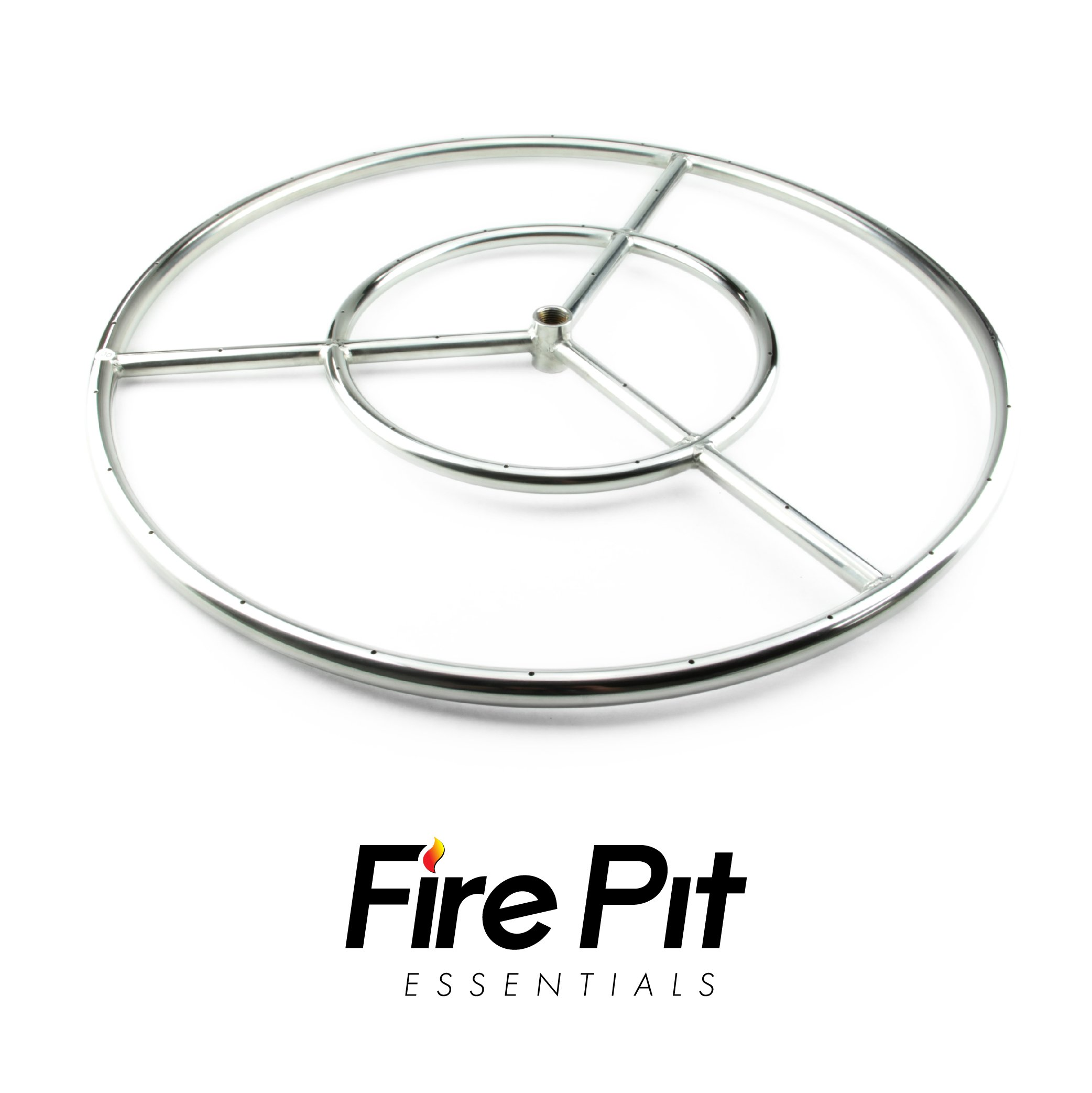 Stainless Steel Fire Ring for Fire Pit Fire Burner Ring, 24-inch Stainless Steel