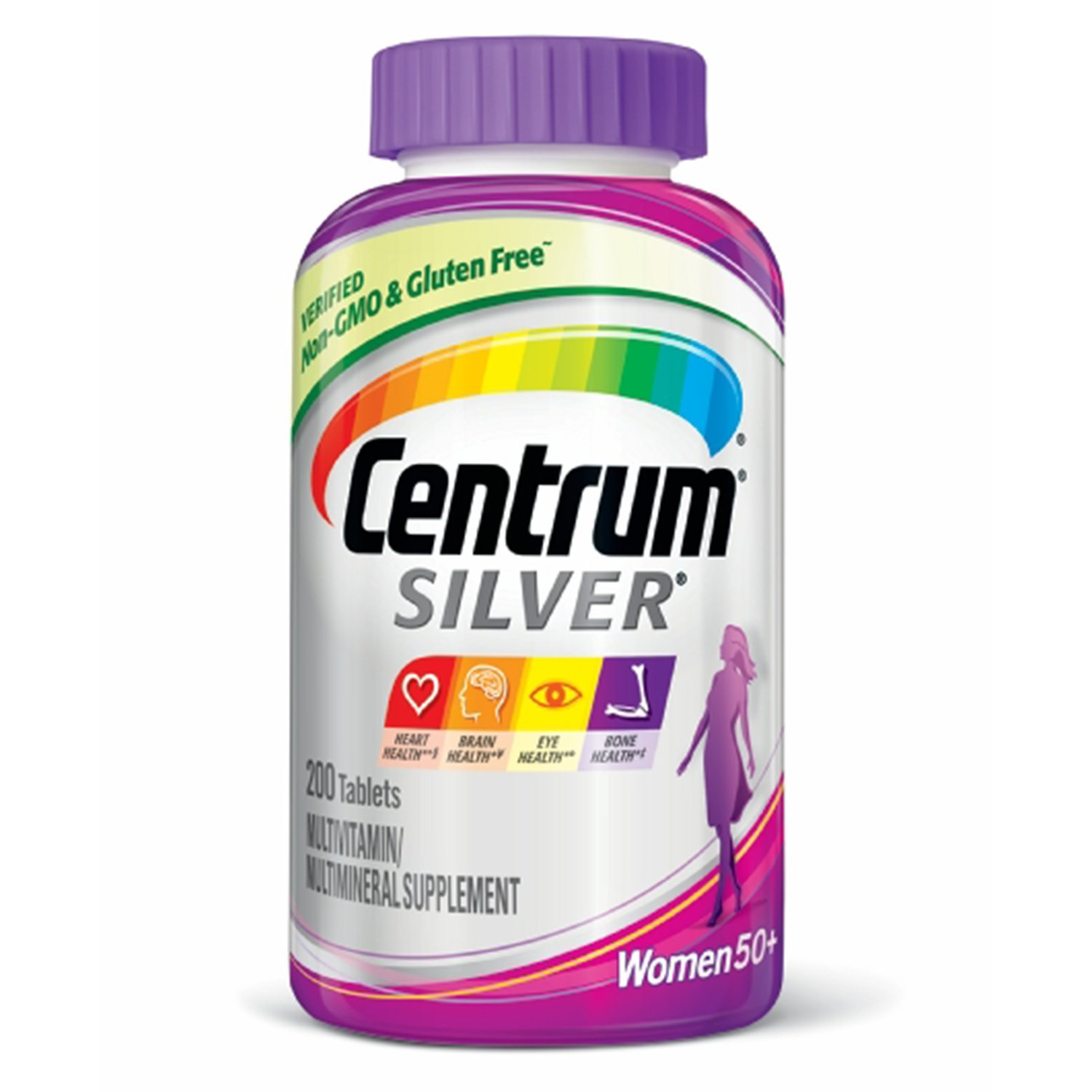 Centrum Silver Women (200 Count) Multivitamin / Multimineral Supplement Tablet, Vitamin D3, Age 50+
