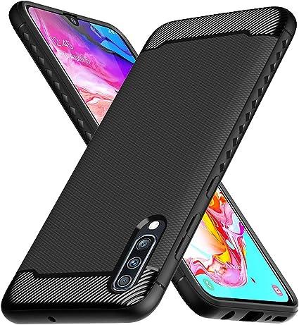 Ferilinso Funda para Samsung Galaxy A70, Funda Protectora a Prueba de choques Flexible diseño de Fibra de Carbono Cubierta para Funda Samsung Galaxy A70 (Negro): Amazon.es: Electrónica