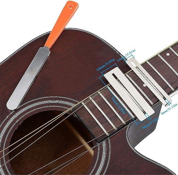Fret Rocker Level mit 2 x Griffbrettschutz Werkzeug-Edelstahl-Gitarre