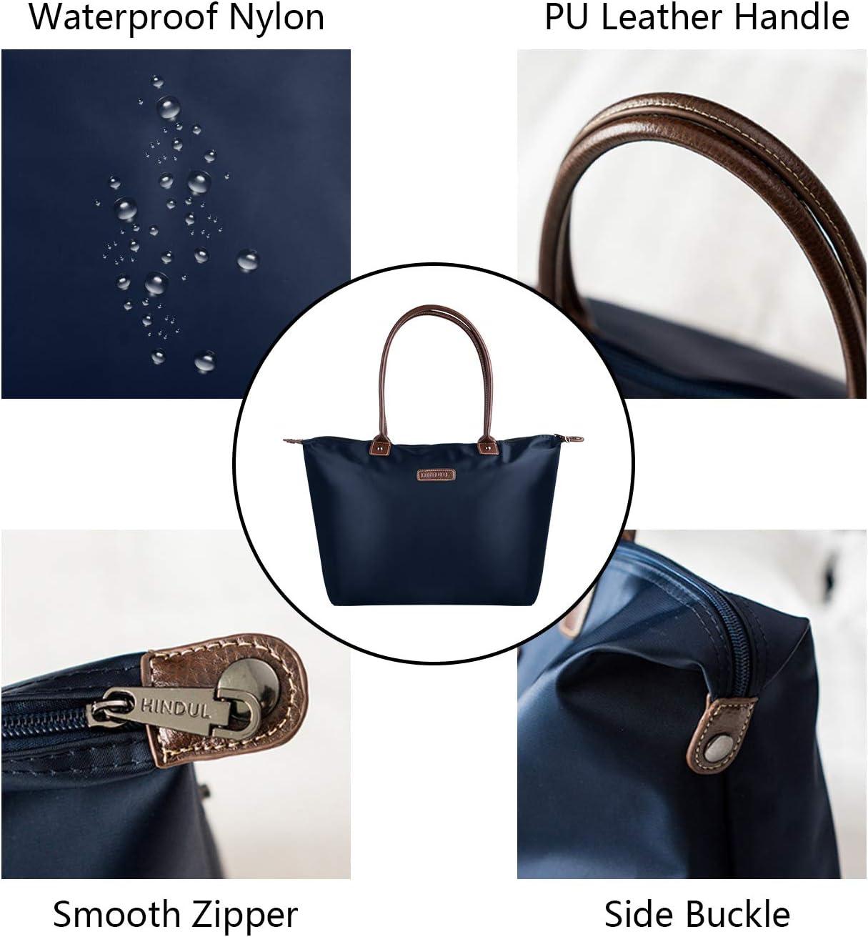 NOTAG Sac Cabas Femme Bleu Imperm/éable Sac /à Main en Nylon Grande Capacit/é Sac /à Bandouli/ère pour Voyage Shopping