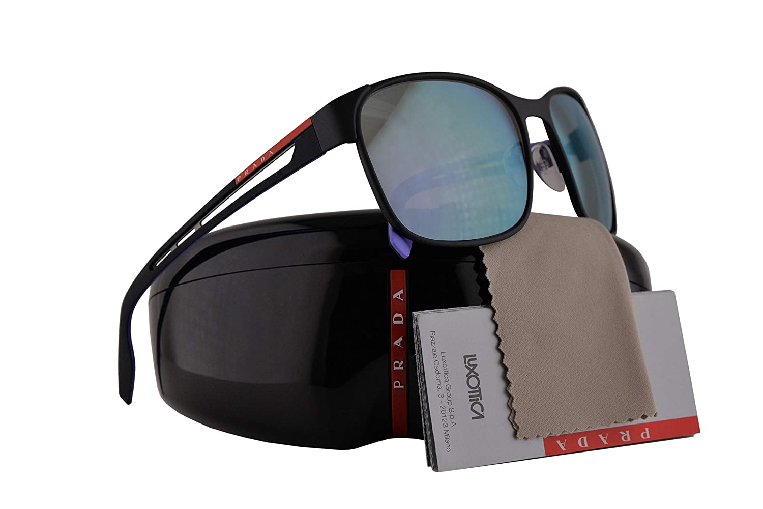 7e12a047110d Amazon.com  Prada PS52TS Sunglasses Black Rubber w Grey Gradient Lens 59mm  DG0140 SPS52T PS 52TS SPS 52T  Clothing