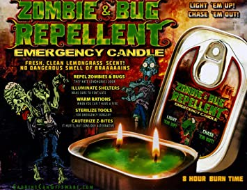 Zombie Bug Repellent Emergency Candle Halloween Gift Grab Bag Party