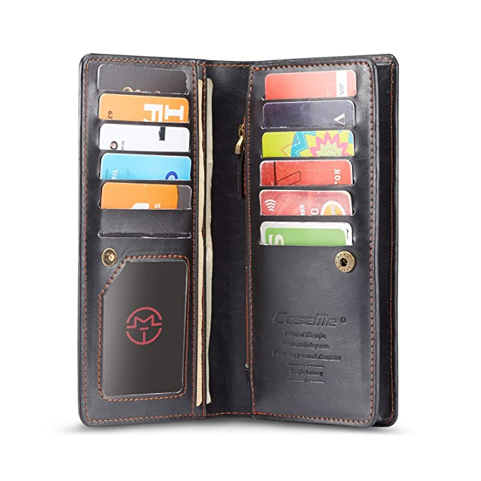 Brand New Mens Ladies Black Leather Credit Card Note Holder Wallet Purse Herren-accessoires Kleidung & Accessoires