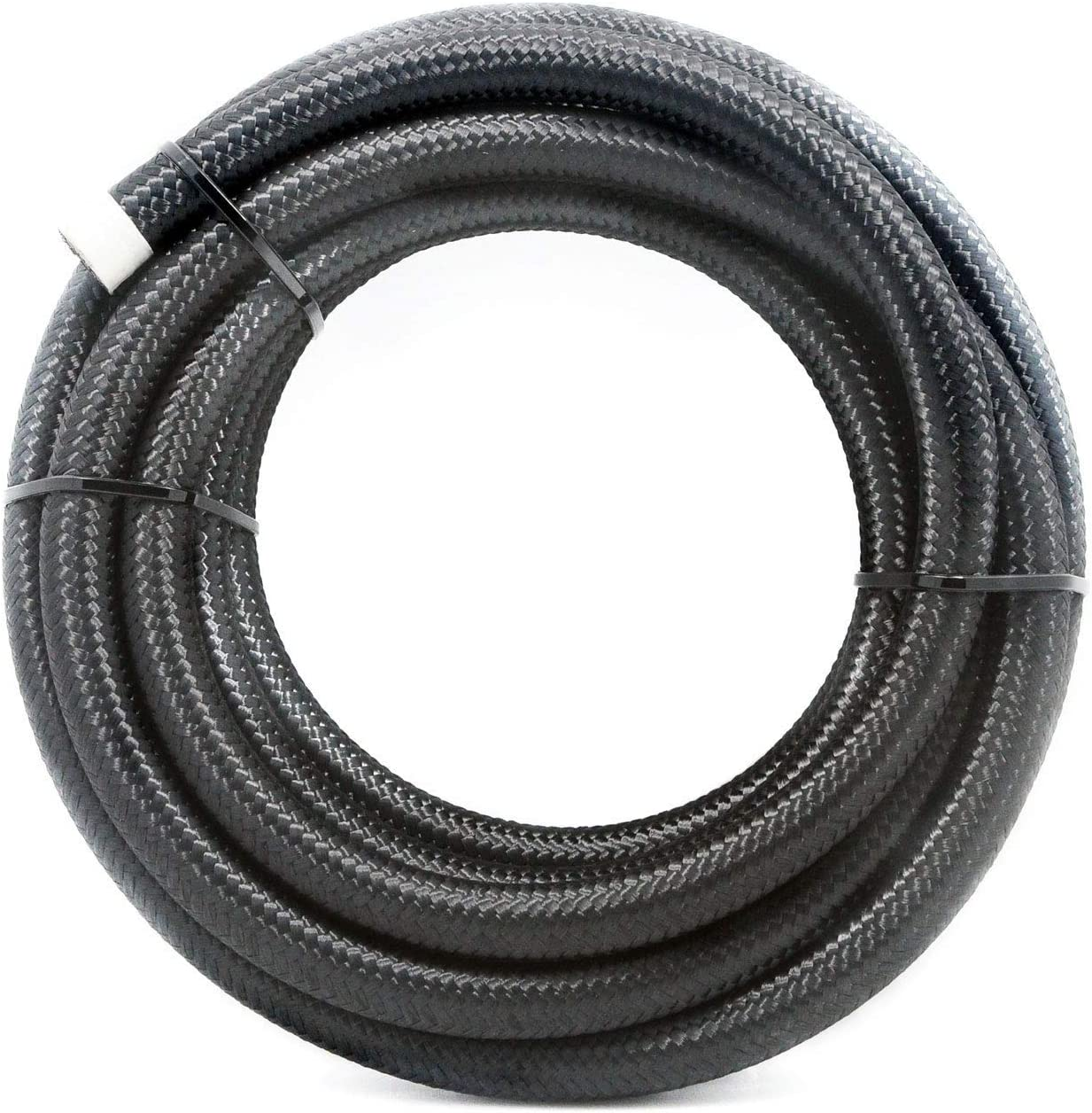 "2RZ 6AN 16Ft(5M) Universal Braided Oil Fuel Line Hose Stainless Steel Nylon for 3/8"" Tube Size"