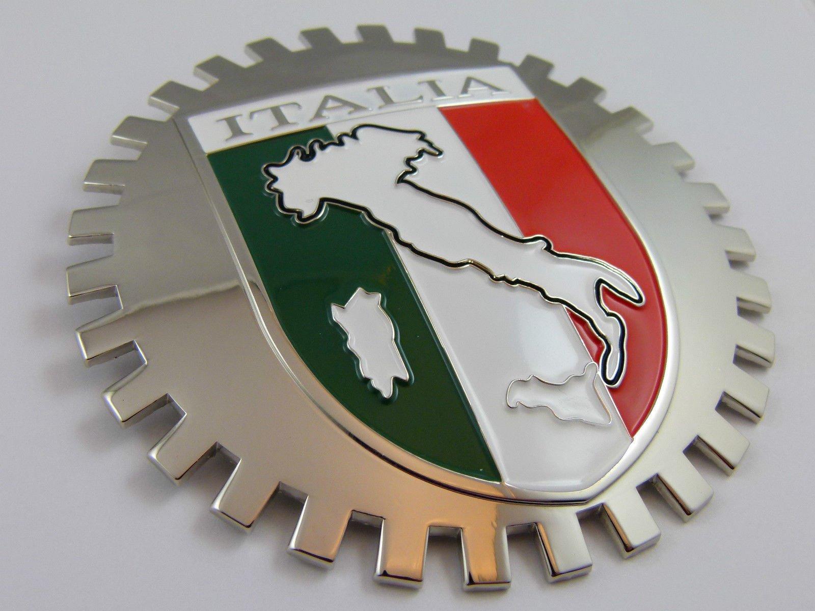 Aplique Parrilla Grille Badge Italia Bandera de Italia