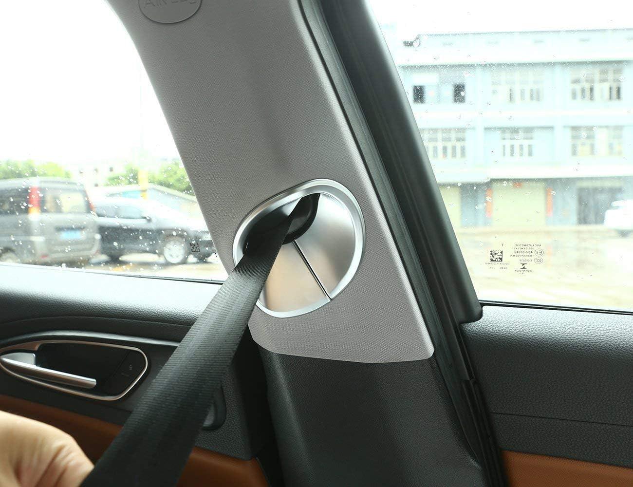 Yiwang Lot de 2 garnitures de ceinture de s/écurit/é avant en fibre de carbone ABS chrom/é pour Giulia 2016-2020 Accessoires auto