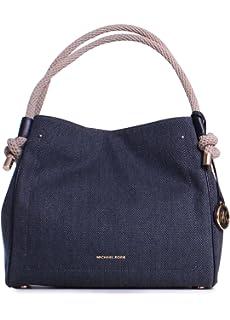 693605a3944a Amazon.com: Michael Kors Isla Grab Large Bag (Admiral): Shoes