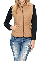 Vince Camuto Women S Quilted Vest With Suede Trim At