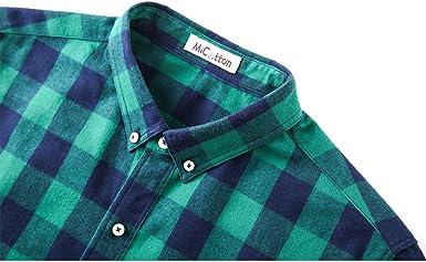 Mocotono Camisa de Franela de Cuadros Casual con Manga Larga para Hombre: Amazon.es: Ropa y accesorios