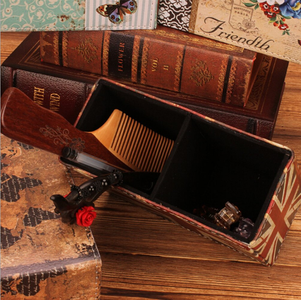 Amazon.com : Vintage PU Leather Pen Holder Desktop Stand Pencil Cup Pot Round Container Organizer for Pens, Utensils, Office Supplies Caddy, ...