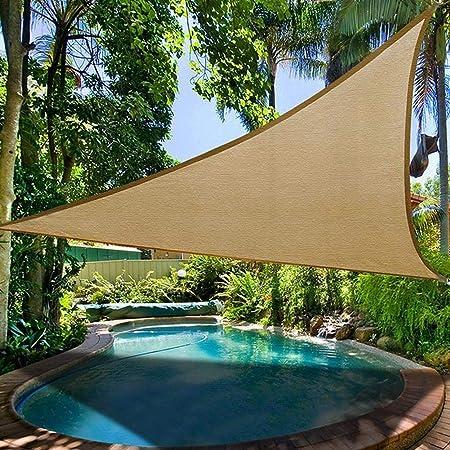 Toldo Velas Sombra Triangular Grande Exterior para Terraza Jardín Patio Camping Piscina Barbacoa Playa, Protección UV Sol/Transpirable/Plegable: Amazon.es: Hogar