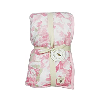 Burt's Bees Baby - Ombre Blossom Reversible Quilt, 100% Organic and 100% Polyester Fill (Blossom)