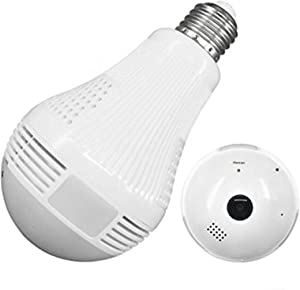Stella Premier Light Bulb Camera, Wireless Security Panoramic WiFi Cam for Home Baby and Pet Monitoring, Two-Way Voice, Waterproof and Night Vision Motion Detection.