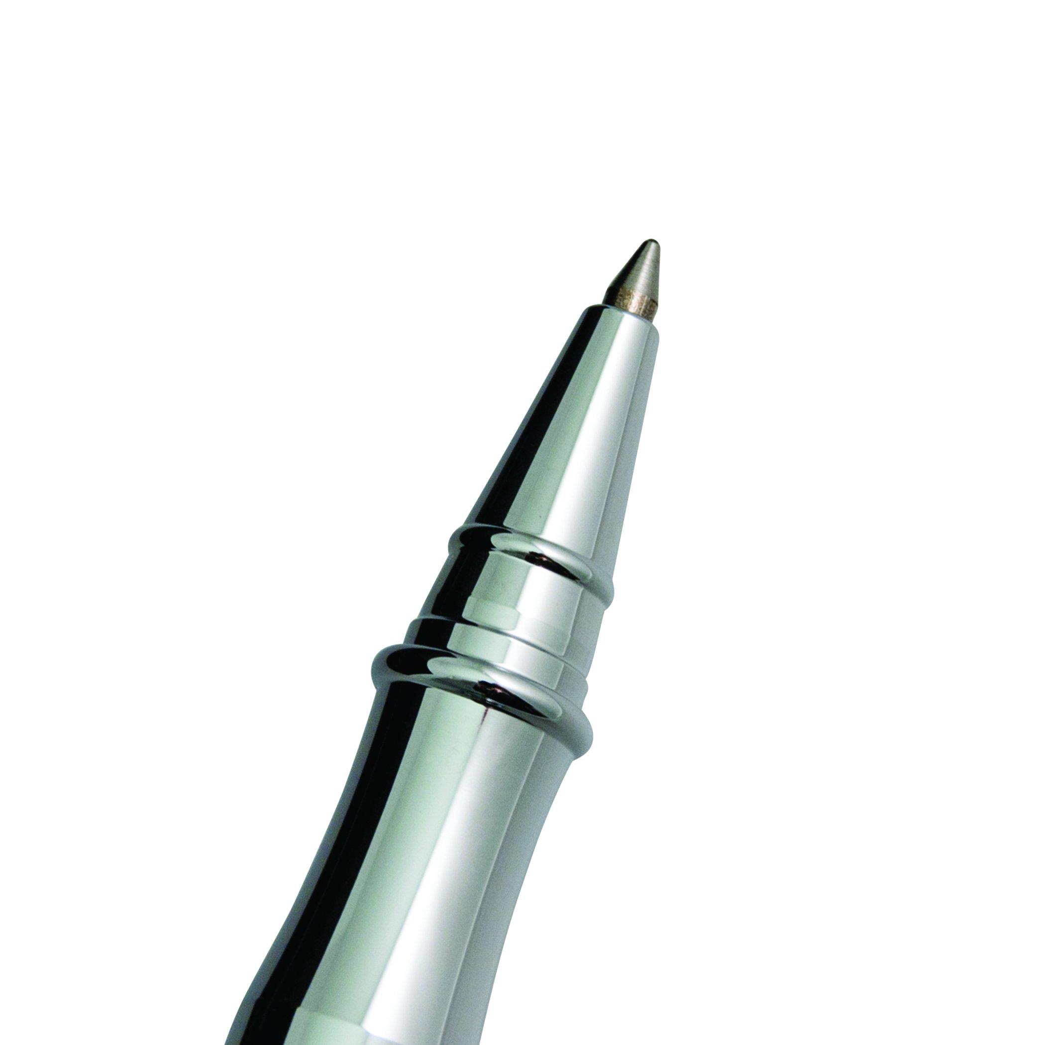 Monteverde Invincia Rollerball Pen, Chrome with Black Carbon Fiber (MV40064) by Monteverde (Image #2)