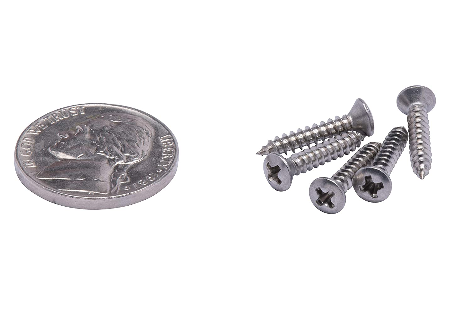 #10 X 1//2 Stainless Oval Head Phillips Wood Screw, Stainless Steel Screws by Bolt Dropper 100pc 18-8 304