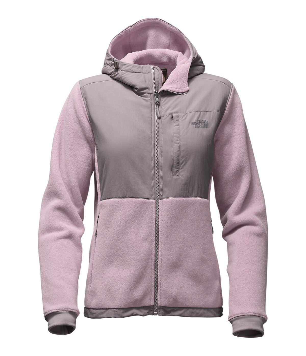 The North Face Women's Denali Hoodie Large Quail Grey/Rabbit Grey