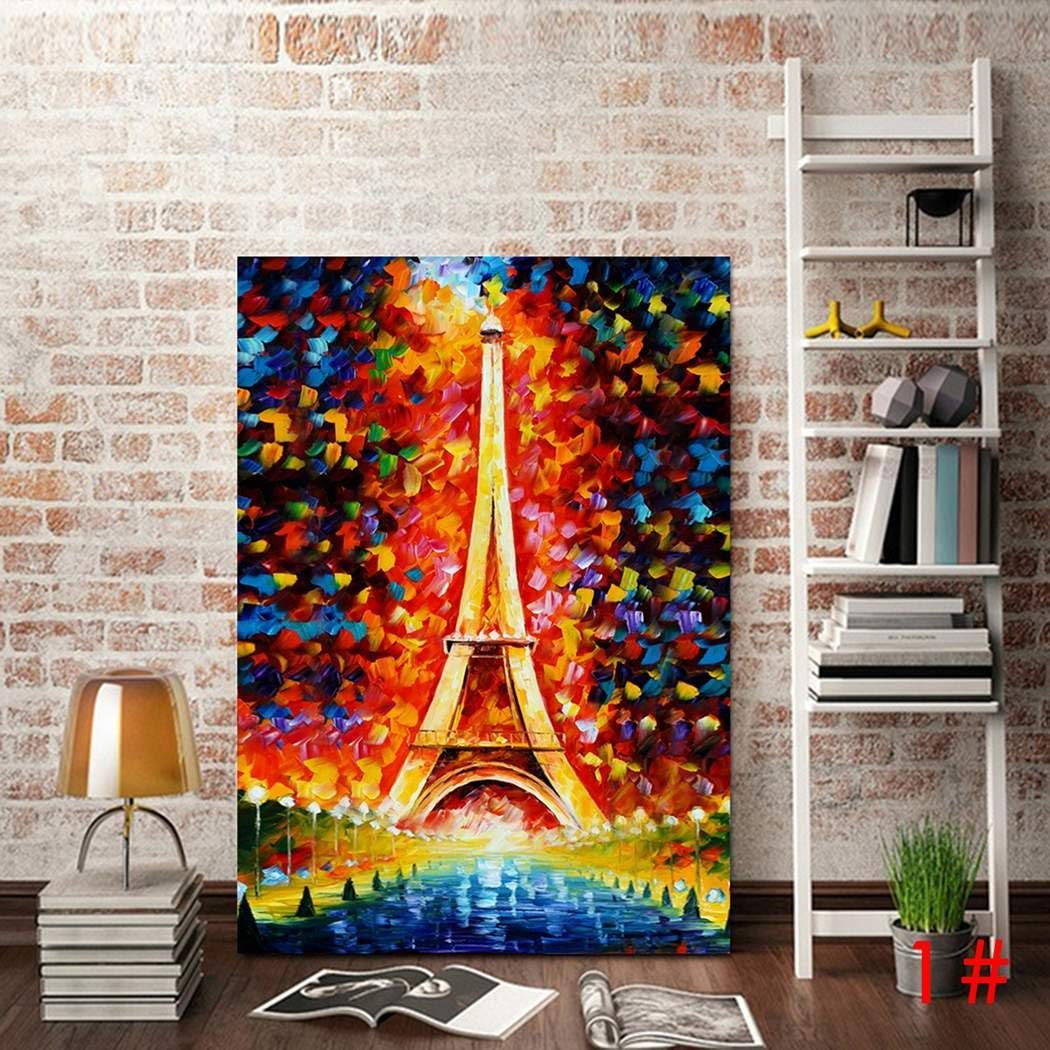 Eroihe Frameless Colorful Painting Imitation Oil Painting Home Decorations Wall Decor (39.4
