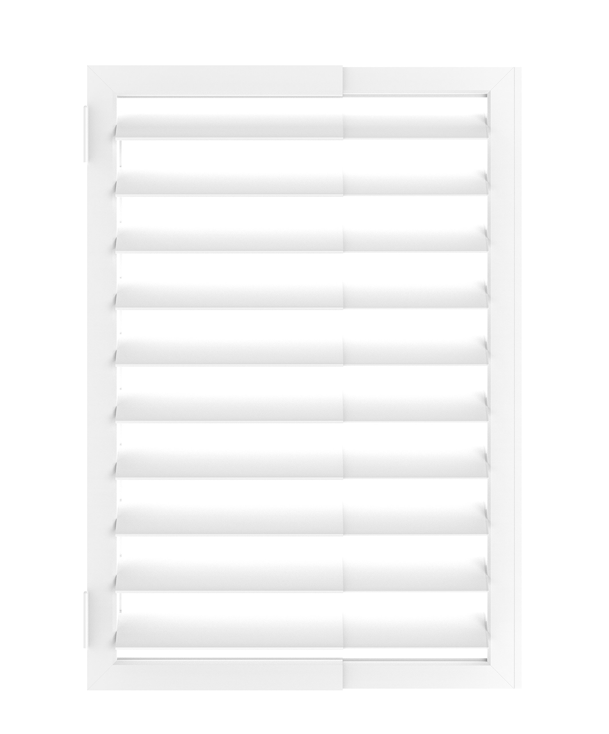 Umbra Expansa Expanding Interior Window Shutter, White