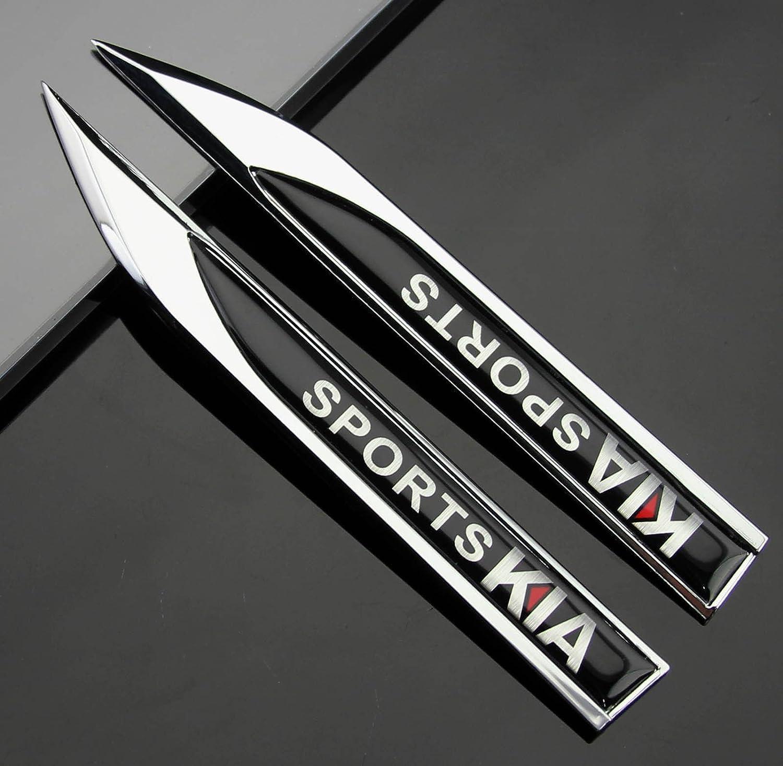 2pcs Auto car Dagger Fender Emblems Sticker Badge Decal fit for Black KIA sports NEW