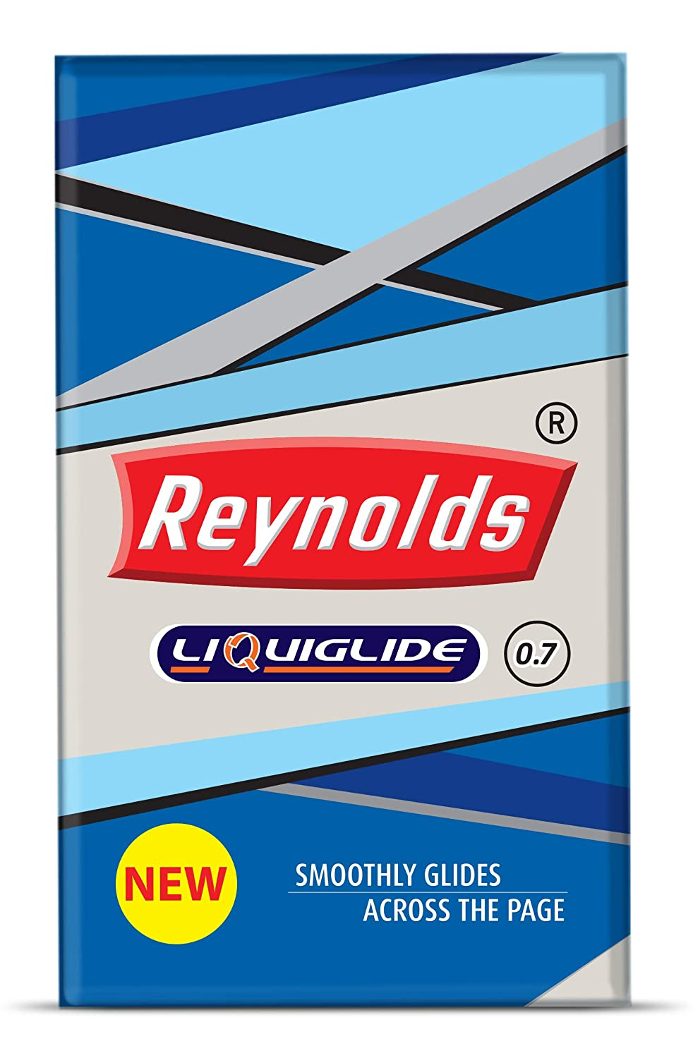 Reynolds Liquiglide Ballpoint Pen, Fine Tip (0.7mm), Red Ink, 20 Count