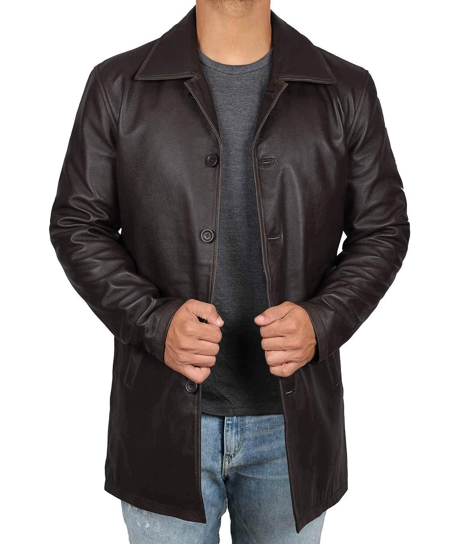 Distressed Brown Leather Jacket