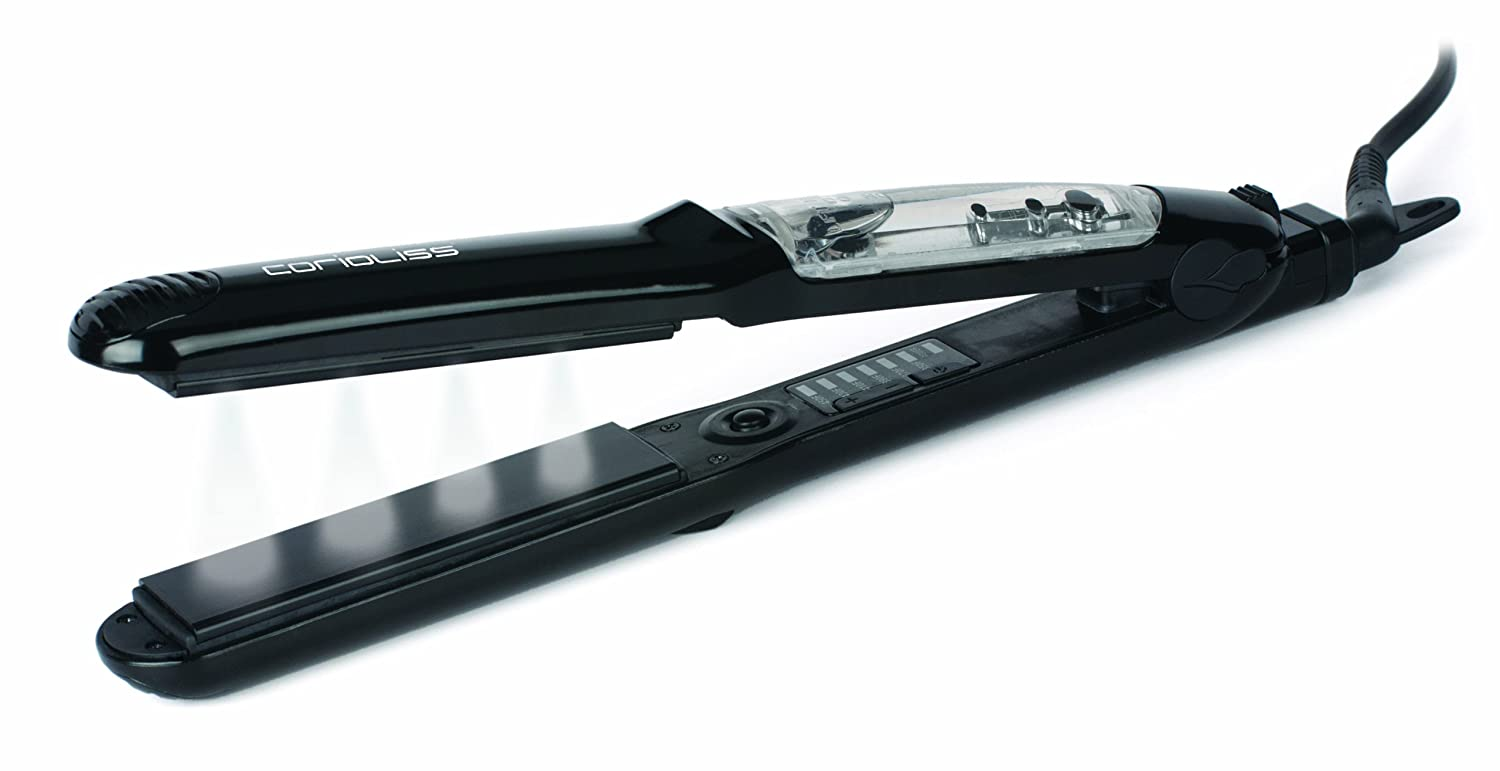 Corioliss K2 Professional Vapour Infusion Hair Straightening Iron (Black)