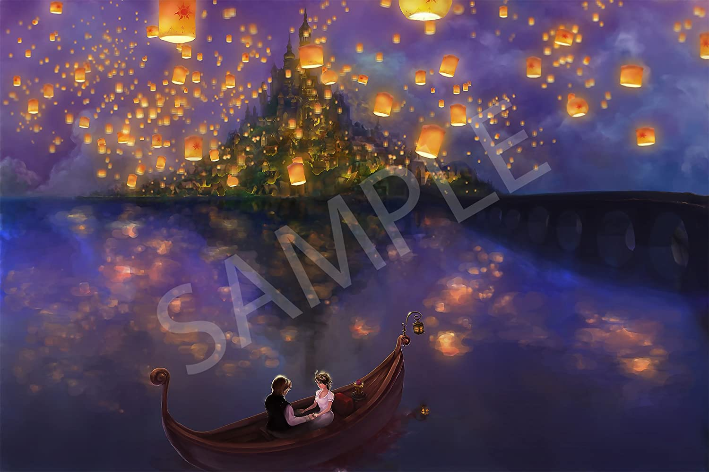 Amazon Com Best Print Store Disney Tangled Rapunzel Inspired The Lantern Scene Art Poster 11x17 Inches Posters Prints