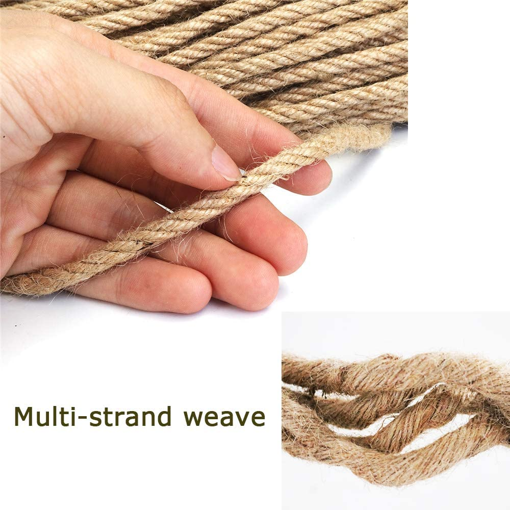 Dualshine 4mm Jute Rope with10 Pcs White Heart Clothes Pins,32 Feet 4 Ply Natural Thick Strong Hemp Rope for DIY /& Arts Craft,Home Decor,Gift Packing