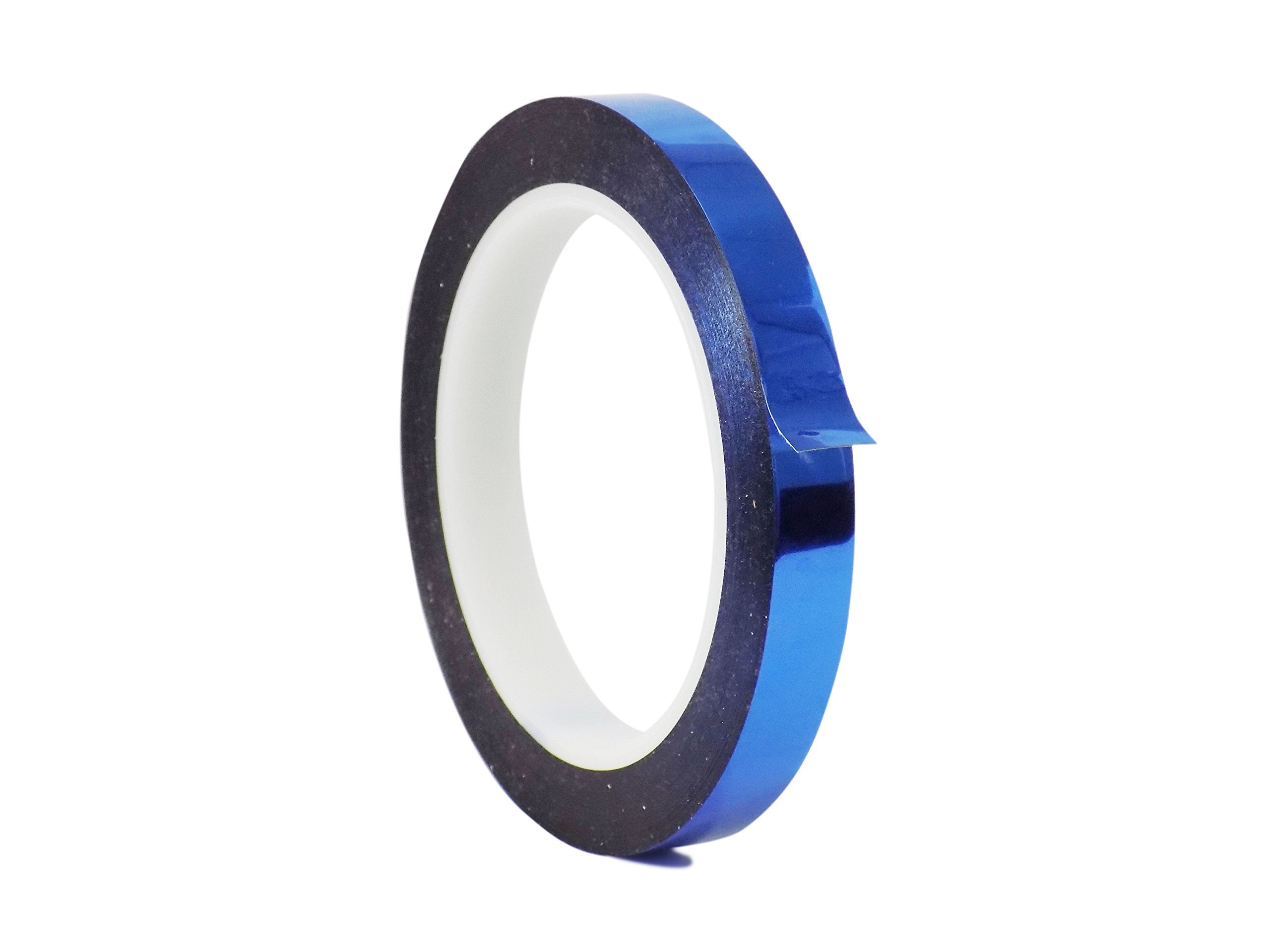 WOD MMYP-1 Blue Metalized Polyester Mylar Film Tape with Acrylic Adhesive (Available in Multiple Colors & Sizes): 1/2 in. x 72 yds. Excellent Chemical and Thermal Stability.