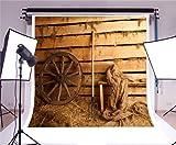 OFILA Farm Barn Backdrop 6.5x6.5ft Photography