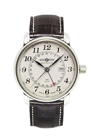 Zeppelin Reloj Analógico de Cuarzo para Hombre con Correa de Piel - 7642-5: Amazon.es: Relojes