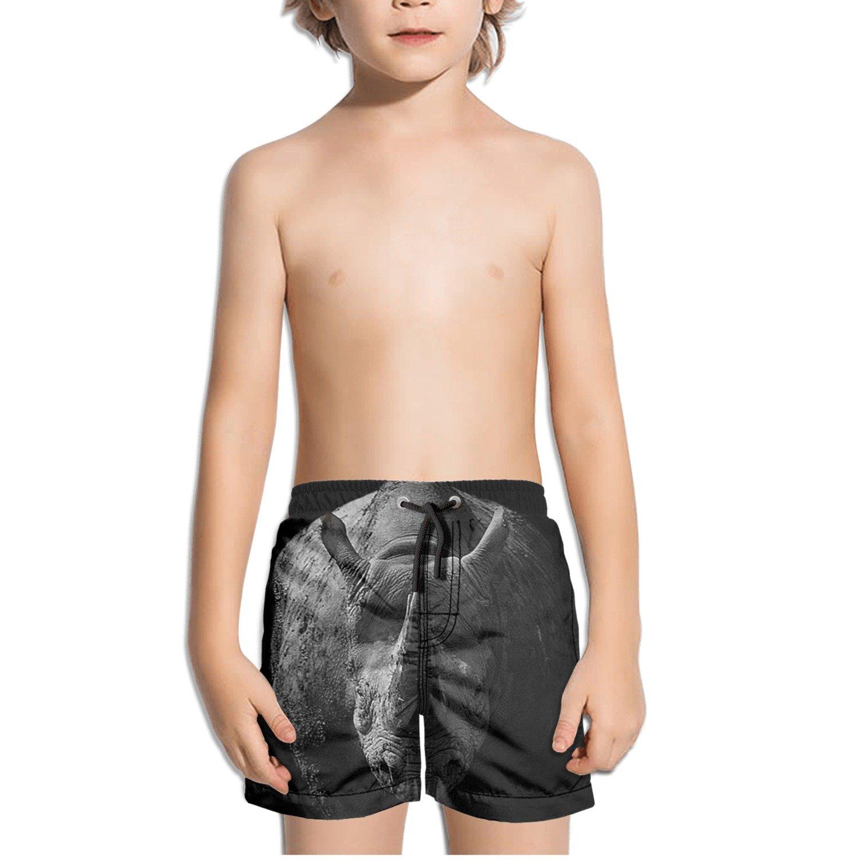 Cougar Watercolor Drawing Kids Boys Fast Drying Beach Swim Trunks Pants