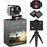 EKEN H9s Action Camera 4K WiFi Ultra HD Waterproof Sports Camera 2 Inch LCD Screen with 2 Rechargeable 1050mAh Batteries Free Bicycle Handlebar includes 11 Mountings Kit (Black)