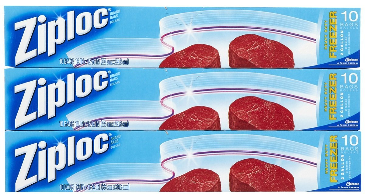 Amazon.com: Ziploc Freezer Bags, Jumbo Size - 10 ct - 3 pk ...