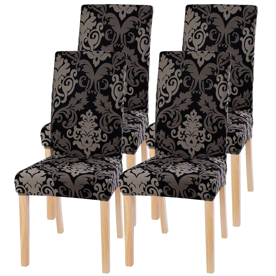 1//4//6 PCS Removable Dining Chair Seat Covers Slip Stretch Wedding Banquet Party