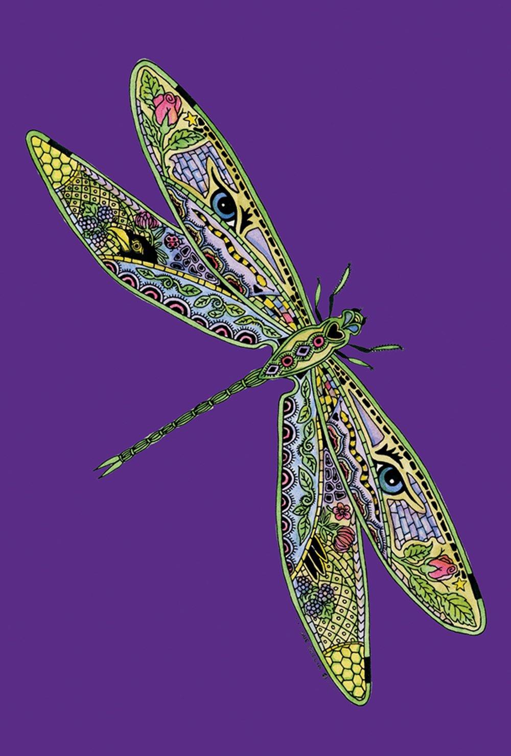 Toland Home Garden Animal Spirits Dragonfly 12.5 x 18 Inch Decorative Native Spiritual Flying Insect Garden Flag