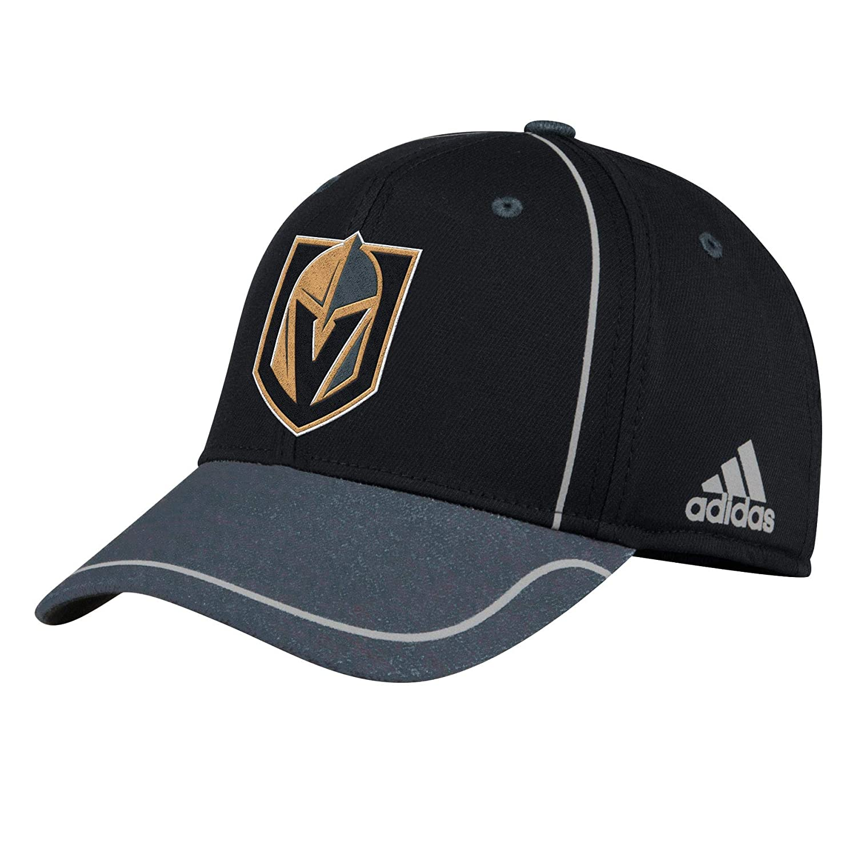 adidas Vegas Golden Knights 2018 Alpha Stretch Fit NHL Cap, L/XL