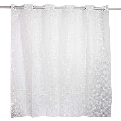 Hook Free Shower Curtain 3D Waterproof Liner Mildew Resistant Washable For Bathroom Hotel