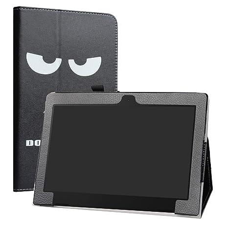 Labanema Lenovo ideapad d330 Funda, Slim Fit Carcasa de Cuero Sintético con Función de Soporte Folio Case Cover para 10.1