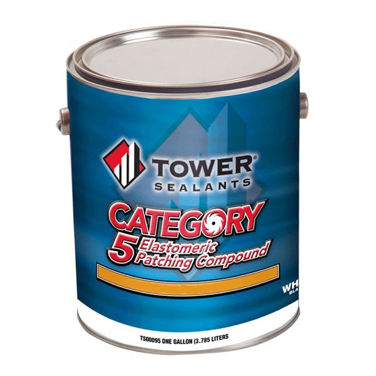 Tower Sealants TS-00096 Gallon Category 5 Elastomeric Patching Compound, Smooth Knife Grade