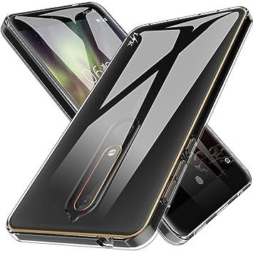 9bcedc9d8ad LK Funda para Nokia 6.1 / Nokia 6 2018 Carcasa Cubierta TPU Silicona Goma  Suave Case Cover Ultra Fino Anti-Arañazos: Amazon.es: Electrónica