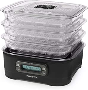 National Presto 06304 Dehydro Digital Electric Food Presto Dehydrator, Up to 12 Trays, Black